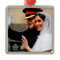 The Duke & Duchess of Sussex: All Smiles Metal Ornament