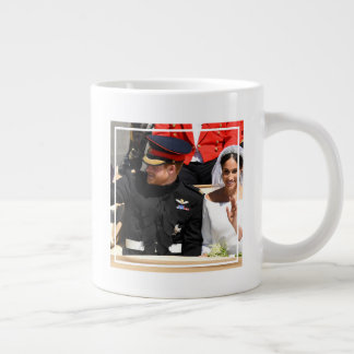 The Duke & Duchess of Sussex: Riding in Carriage Giant Coffee Mug