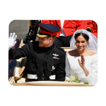 The Duke & Duchess of Sussex: Waving Happily Magnet