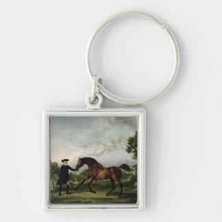 """The Duke of Ancaster's bay stallion """"Blank"""" Keychain"""