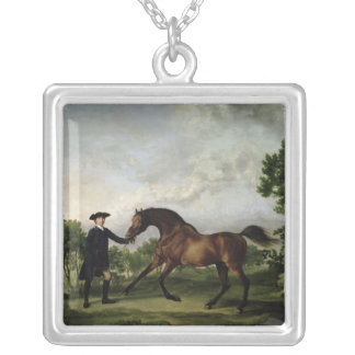 "The Duke of Ancaster's bay stallion ""Blank"" Silver Plated Necklace"