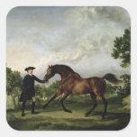 """The Duke of Ancaster's bay stallion """"Blank"""" Square Sticker"""