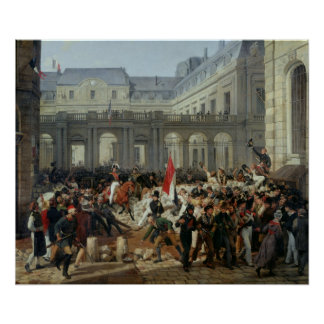 The Duke of Orleans Leaves the Palais-Royal Poster