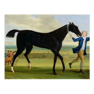 The Duke of Rutland s Bonny Black c 1720 oil o Post Card