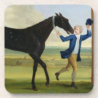 The Duke of Rutland's 'Bonny Black', c.1720 (oil o Coaster