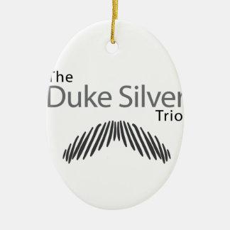 The Duke Silver Trio Ceramic Ornament