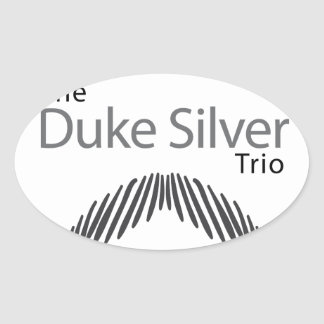 The Duke Silver Trio Oval Sticker