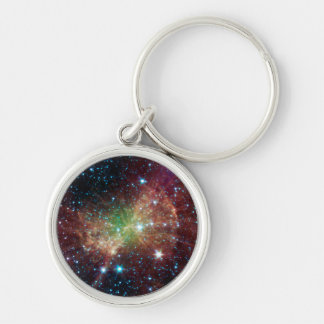 The Dumbbell Nebula Silver-Colored Round Keychain