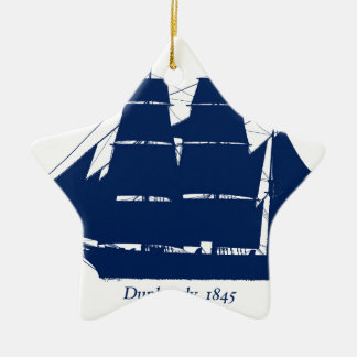 The Dunbrody 1845 by tony fernandes Ceramic Ornament