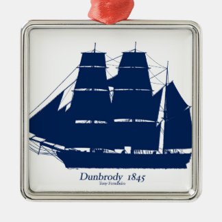 The Dunbrody 1845 by tony fernandes Metal Ornament