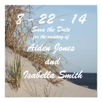 The Dunes Save the Date Announcement Card