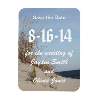 The Dunes Save the Date Magnet
