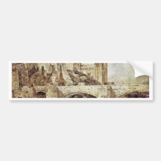 The Durham Cathedral And The Bridge As Seen From Car Bumper Sticker