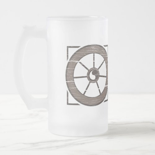 The Dusty Wheel: The Wheel & Show Frosted Mug
