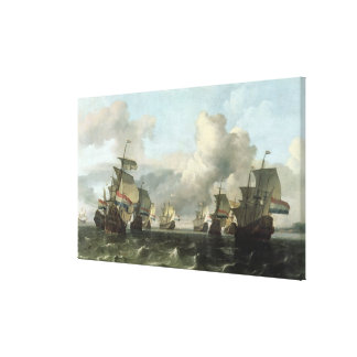 The Dutch Fleet of the India Company, 1675 Canvas Print