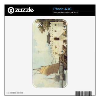 The Dutch Folly Fort off Canton (watercolour) Decal For The iPhone 4S