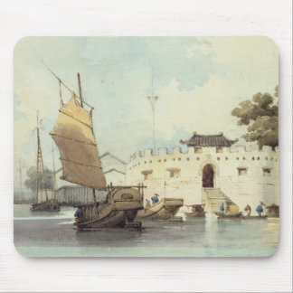 The Dutch Folly Fort off Canton (watercolour) Mousepads