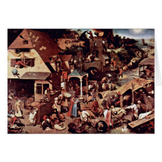 The Dutch Proverbs  By Bruegel D. Ä. Pieter Cards