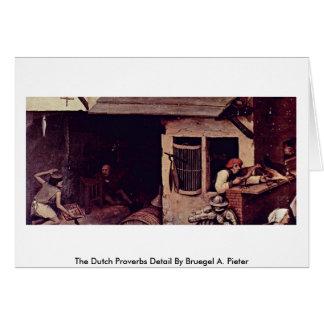 The Dutch Proverbs Detail By Bruegel A. Pieter Cards