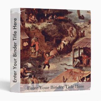 The Dutch Proverbs Detail By Bruegel D. Ä. Pieter Vinyl Binder