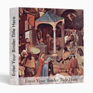 The Dutch Proverbs Detail By Bruegel D. Ä. Pieter 3 Ring Binder