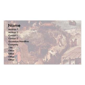 The Dutch Proverbs Detail By Bruegel D. Ä. Pieter Business Card Templates