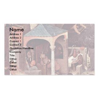 The Dutch Proverbs Detail By Bruegel D. Ä. Pieter Business Cards
