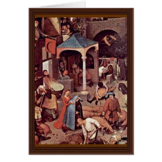 The Dutch Proverbs Detail By Bruegel D. Ä. Pieter Cards