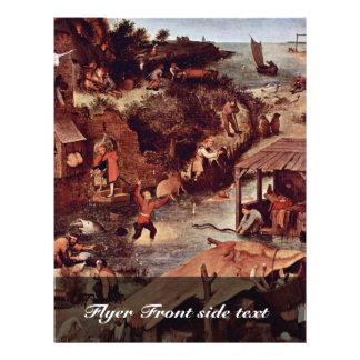 The Dutch Proverbs Detail By Bruegel D. Ä. Pieter Custom Flyer