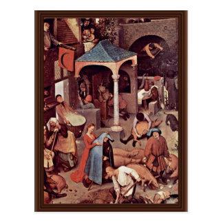 The Dutch Proverbs Detail By Bruegel D. Ä. Pieter Postcard