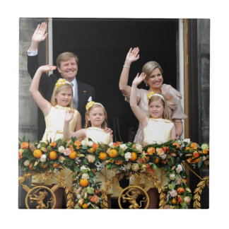 The Dutch Royal Family Small Square Tile
