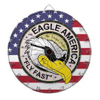 "The Eagle America ""Fly Fast"" Pilot Dart Board"