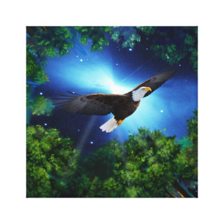The eagle and the forest canvas print