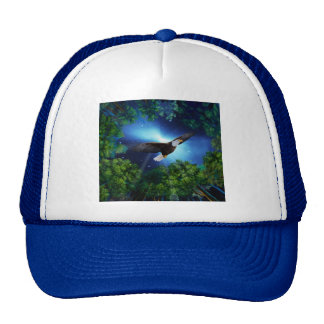 The eagle and the forest trucker hat