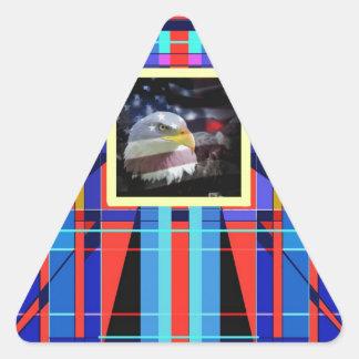 The Eagle and the Geometric Shapes. Triangle Sticker