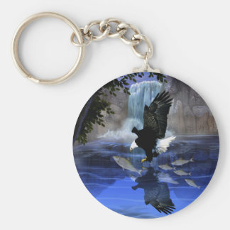 The eagle and the waterfall keychain