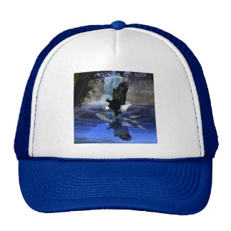 The eagle and the waterfall trucker hat