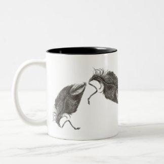 The Eagle feather Two-Tone Coffee Mug