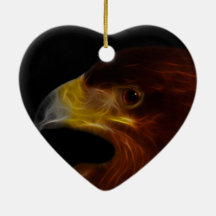 The Eagle Has Landed Double-Sided Heart Ceramic Christmas Ornament
