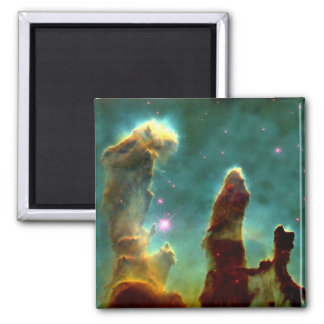 The Eagle Pillars of creation 2 Inch Square Magnet