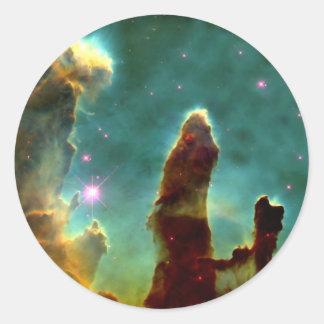 The Eagle Pillars of creation Round Sticker