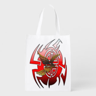 The eagle & the bagua grocery bag