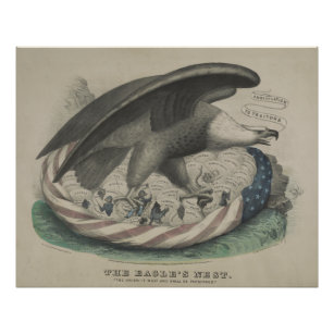 The Eagle's nest The Union [1861] Poster