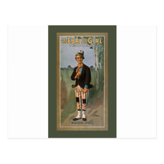The Earl and The Girl 2 Years in London. Eddie Foy Postcard