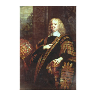 The Earl of Clarendon, Lord High Chancellor Canvas Print