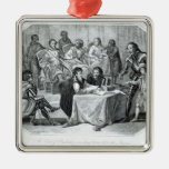 The Earl of Pembroke Presenting Henry III Christmas Tree Ornament
