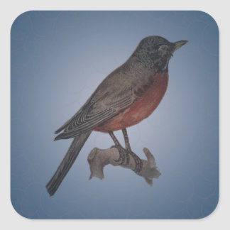 The Early Bird Catches The Worm Square Sticker