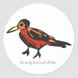 the early bird Stickers