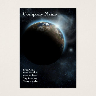 The Earth - 2012 Pocket Calendar Business Card
