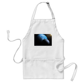 The Earth and Moon Adult Apron